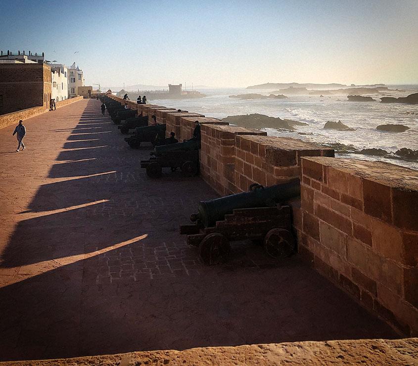 Essaouira Vistas mar y muralla con cañones