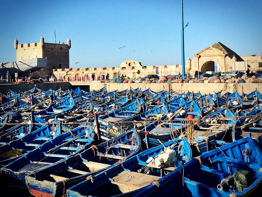 Essaouira barcas puerto 1001Tours Morocco